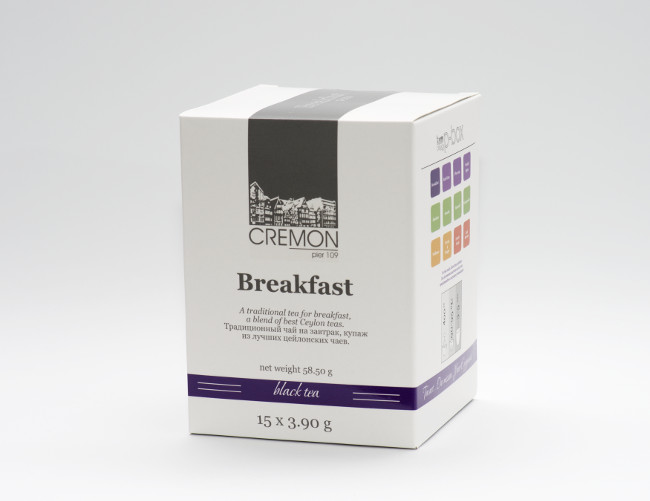Чай черный Сremon Breakfast в пирамидках 15 шт х 3.9г