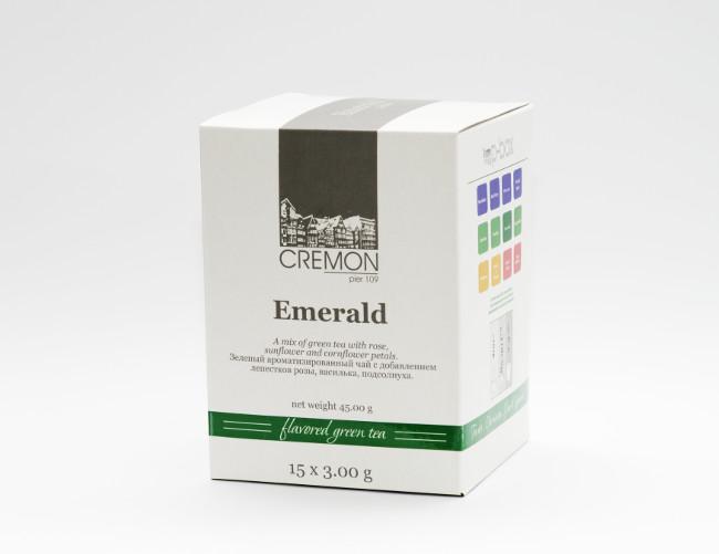 Чай зелений Емеральд в пірамідках 15 шт х 3.0г