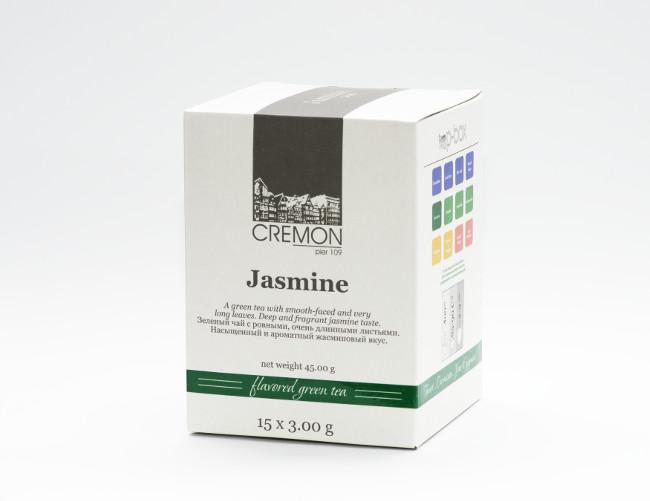 Чай зелений  Жасмін в пірамідках 15 шт х 3.0г