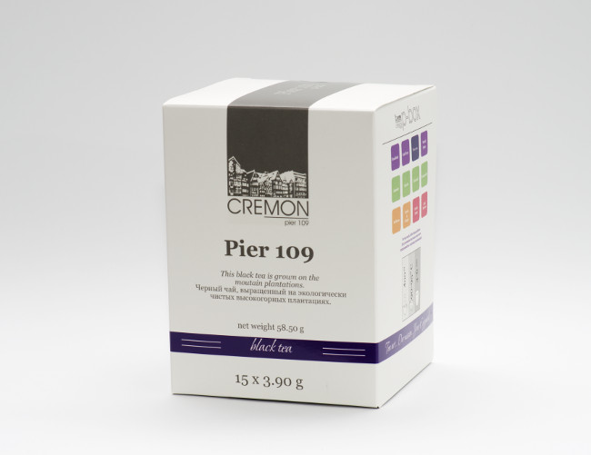 Чай черный Сremon Pier 109 в пирамидках 15 шт х 3.9г