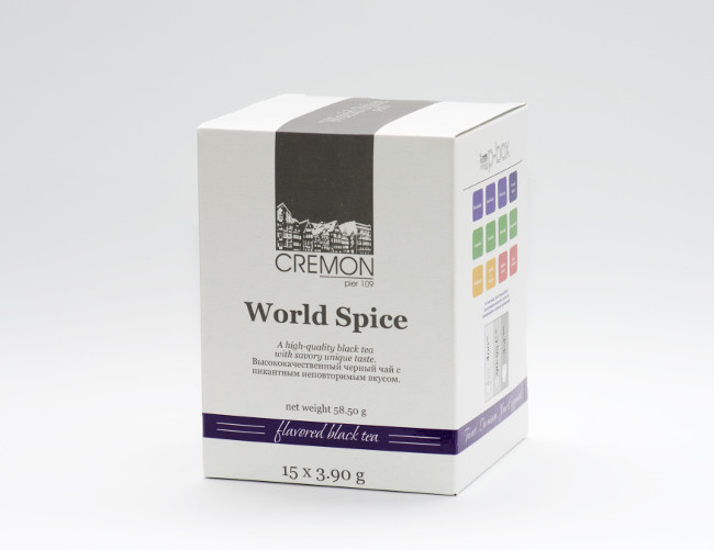 Чай черный Сremon World Spice в пирамидках 15 шт х 3.9г